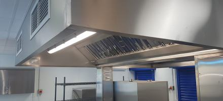 Kitchen canopy stainless steel fabrication