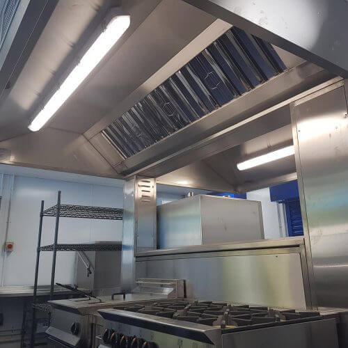 Kitchen ventilation systems for schools