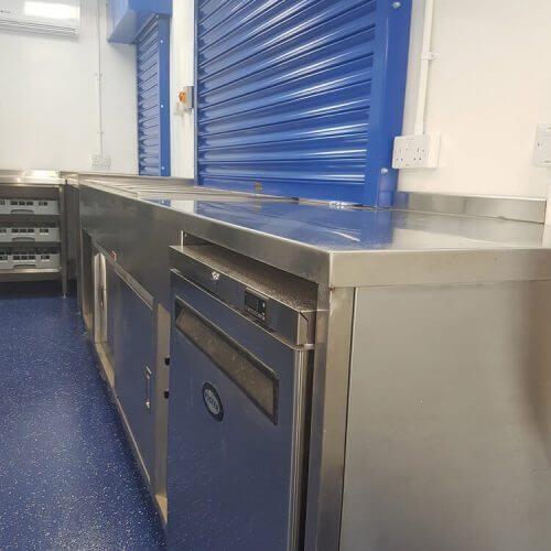 Alfreton Park Community School kitchen