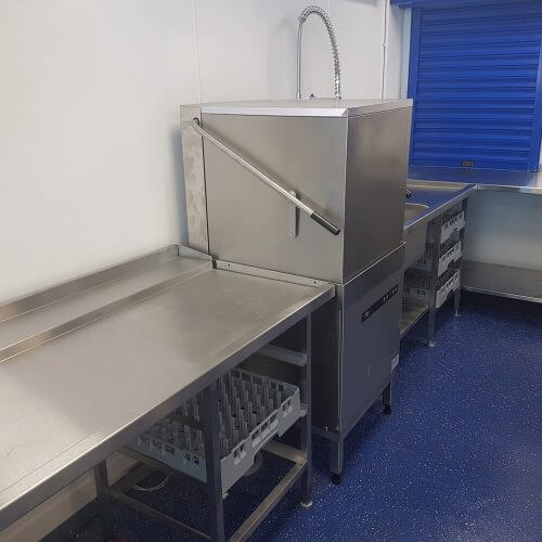 Stainless steel kitchen units made by Dolphin Fabrications