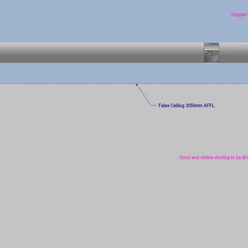 Kitchen fan measurements diagram