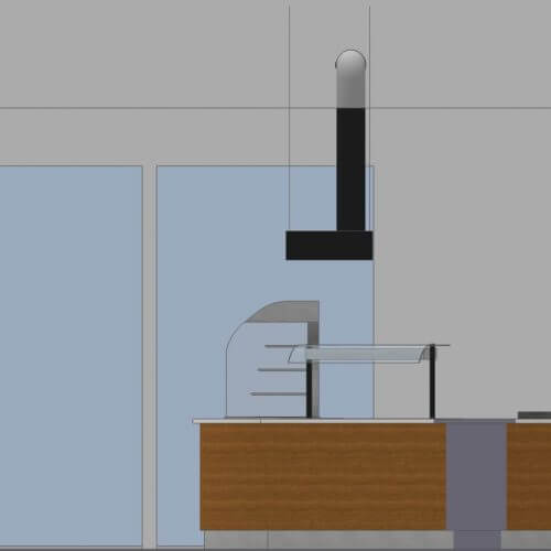 Kitchen ventilation system 2D mockup