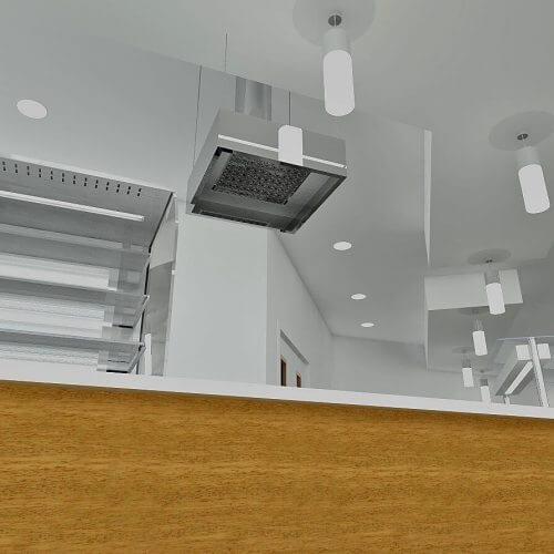 Kitchen ventilation system diagram