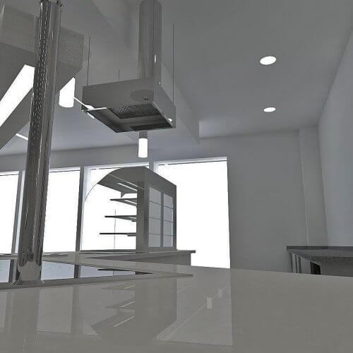 Stainless steel kitchen diagram