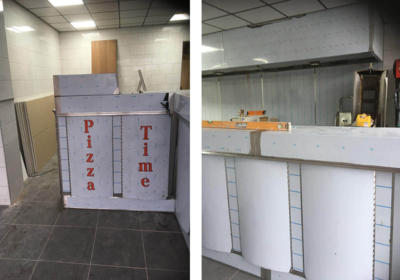 Kitchen counters and service counters fabrication