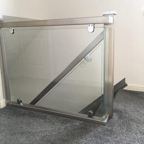 Industrial stainless steel handrails