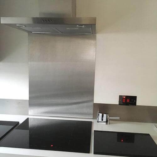 Stainless steel splash backs