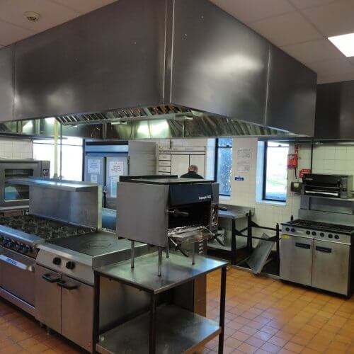 Commercial kitchen featuring Dolphin extraction hoods