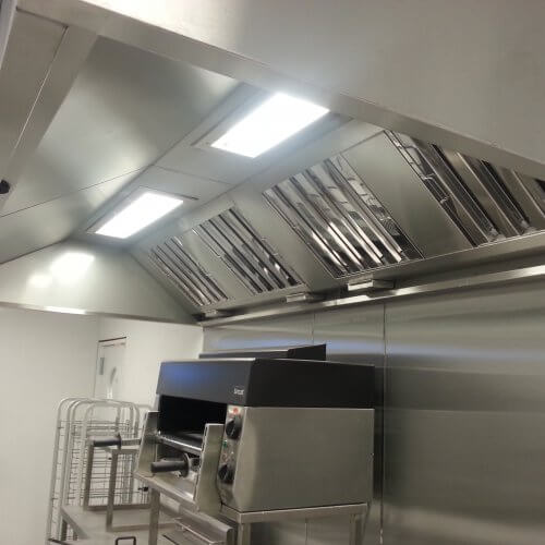 Extraction hoods for use in commercial kitchens