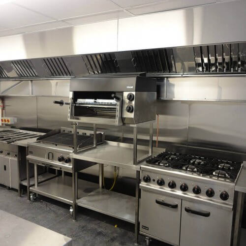 Bespoke stainless steel kitchen canopy