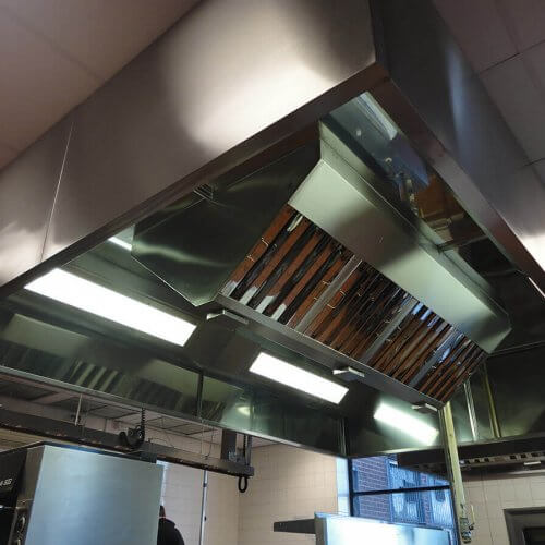 Fixed kitchen canopy