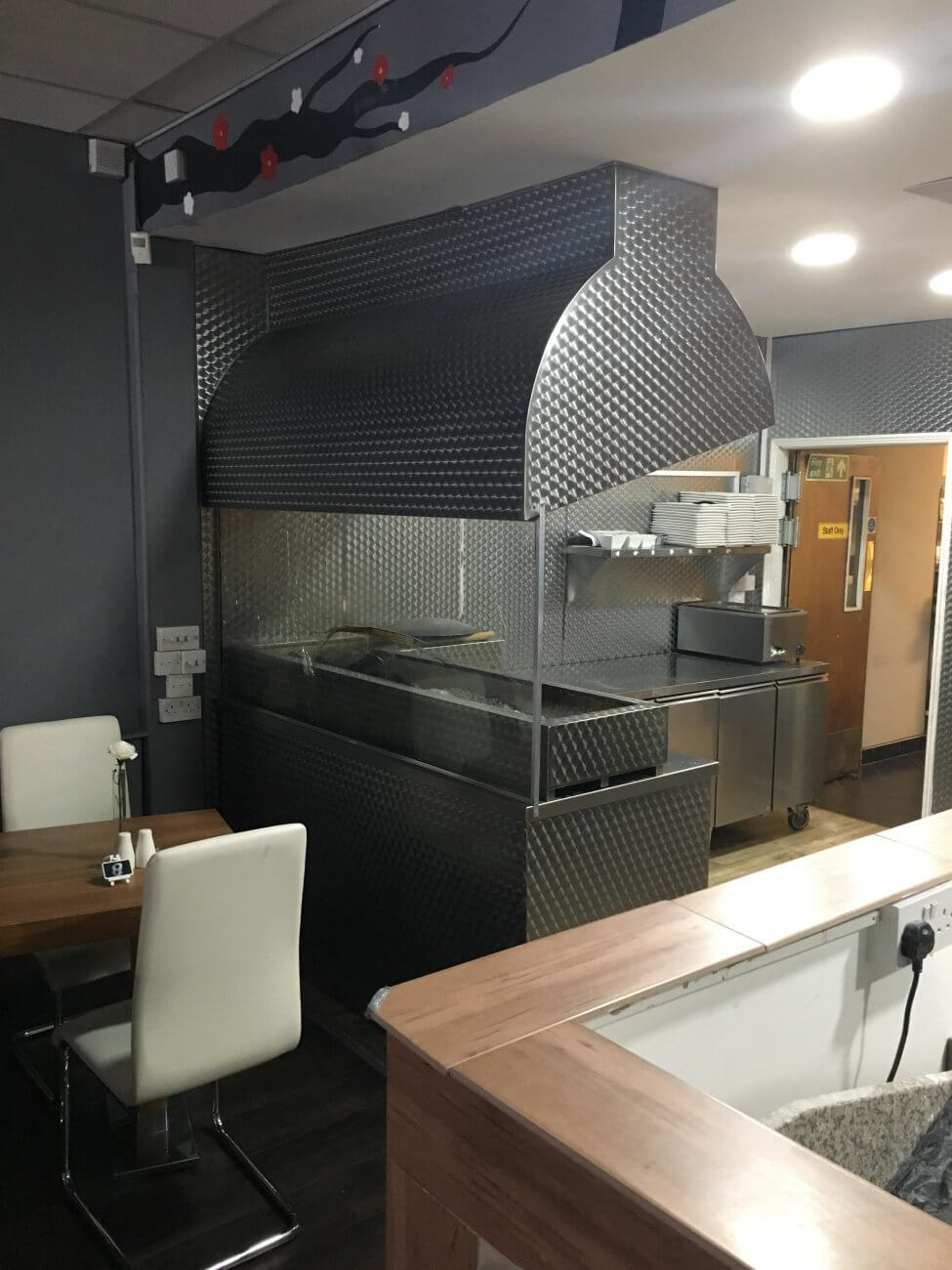 Stainless steel kitchen canopy for restaurant