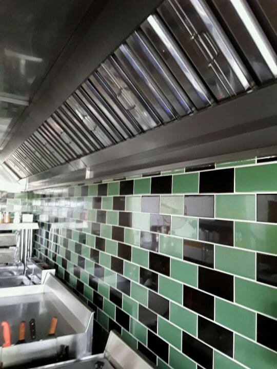 Kitchen wall cladding by Dolphin Fabrications