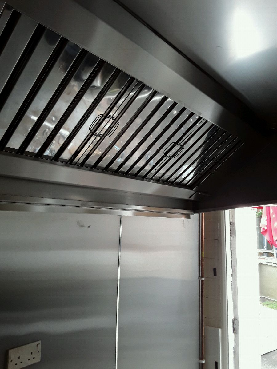 Stainless steel wall canopy fitted by Dolphin Fabrications