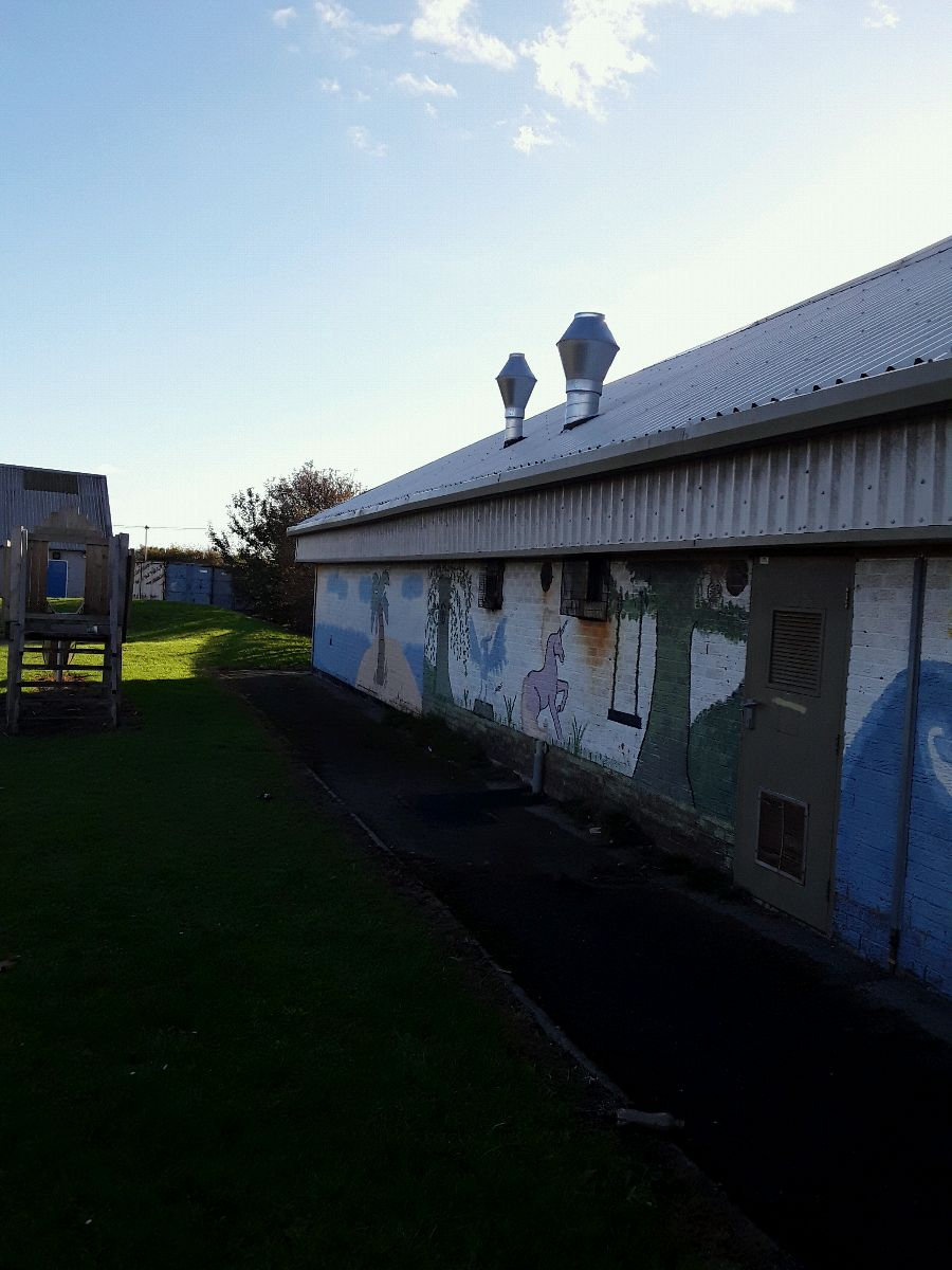 External ventilation fitted to the roof of Leasowe Community Centre