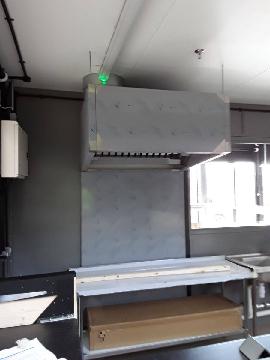 Fitting a bespoke canopy for a busy market kitchen