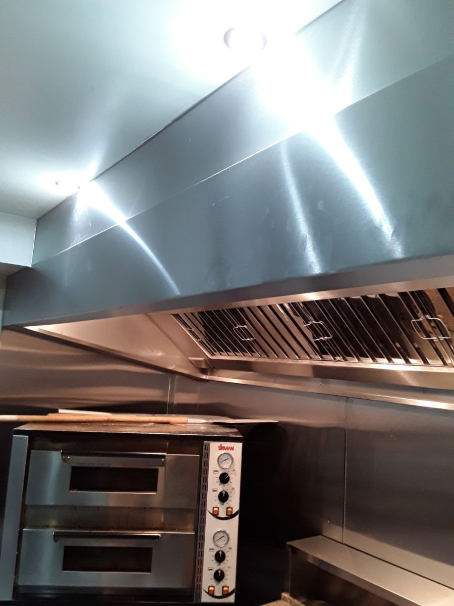 Stainless steel canopy fitted to cafe at Substation Macclesfield
